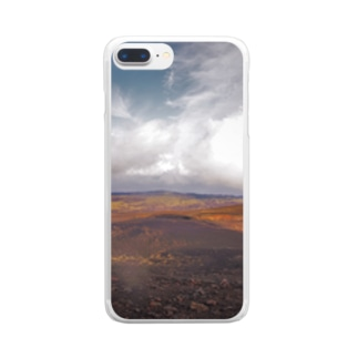 伊豆大島裏砂漠 Clear smartphone cases