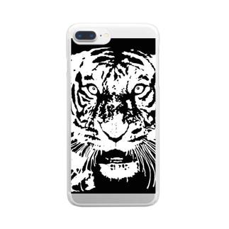 ブルース・リー先生 お気に入りの寅 🐯 Clear smartphone cases