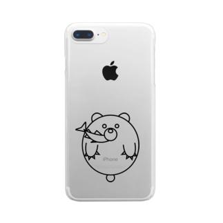 くましゃけ Clear smartphone cases
