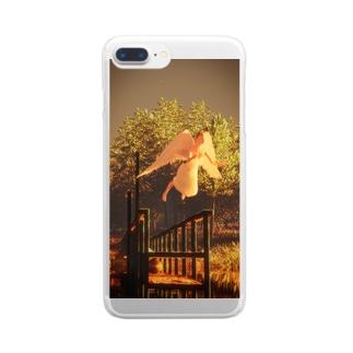 飛ぶ夢なんて飛ぶ夢でしかないのに Clear smartphone cases