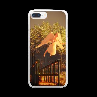 淡波亮作@世界で289883番めのSF作家の飛ぶ夢なんて飛ぶ夢でしかないのに Clear smartphone cases