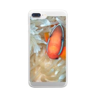 クマノミ Clear smartphone cases