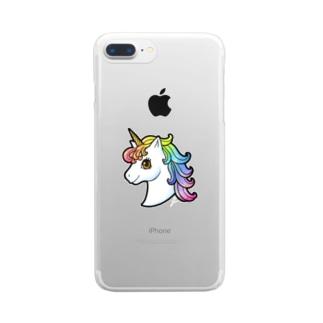 ユニココ001 Clear smartphone cases