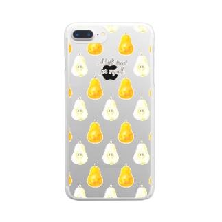 ラ・フランス A little treat for myself Clear smartphone cases