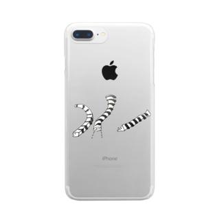 はい〜〜〜はいは〜〜〜い Clear smartphone cases