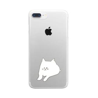 ウザいねこ Clear smartphone cases