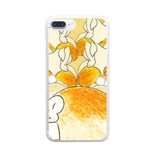 ぱんとまふふ Clear smartphone cases