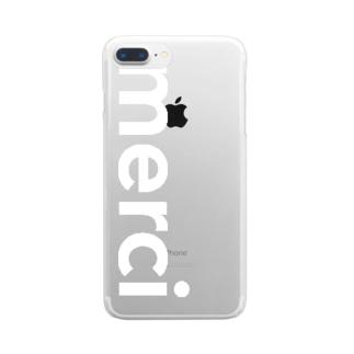 merci standard white logo iPhone clear case Clear smartphone cases