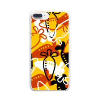 Vegetable01(Yellow) Clear smartphone cases