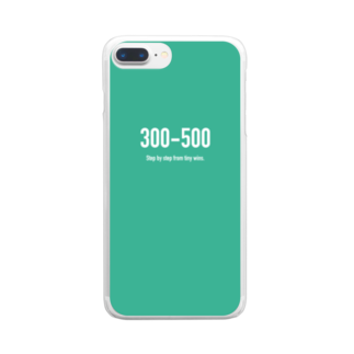 wlmのPOINTS 300-500 Clear smartphone cases