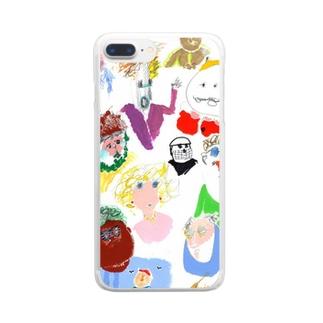 ひとびと Clear smartphone cases
