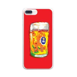 Bier クリアスマートフォンケース