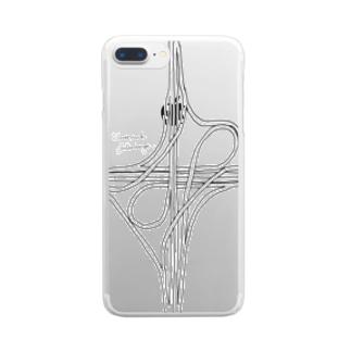 対向ループ型インターチェンジ Clear smartphone cases