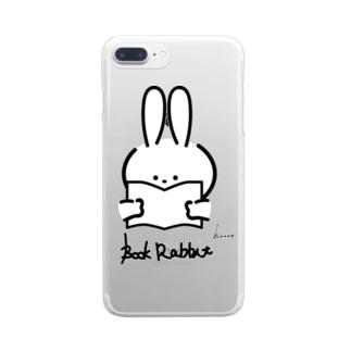 ラビットブックス by honne Clear smartphone cases