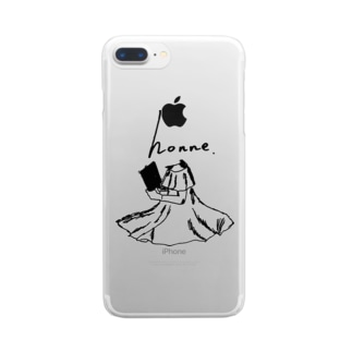 honneオリジナルシリーズ3 Clear smartphone cases