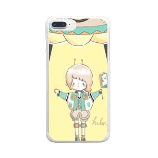 エイリアンガール。 Clear smartphone cases