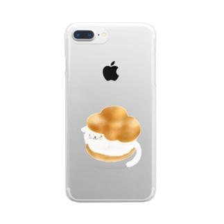 シューにゃんこ Clear smartphone cases