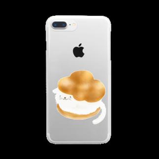 ハネコハネのシューにゃんこ Clear smartphone cases