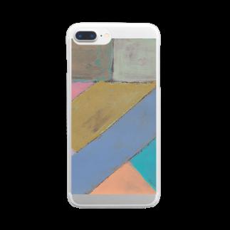 あとりえ あおきゃたつの亥 Clear smartphone cases