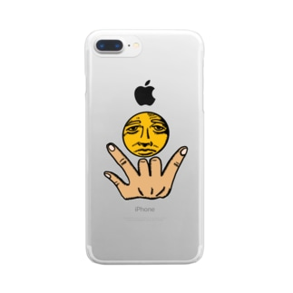 お月様とアイラヴユー Clear smartphone cases