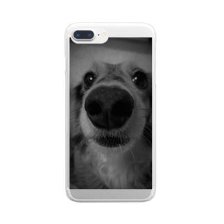 鼻デカわんこ Clear smartphone cases