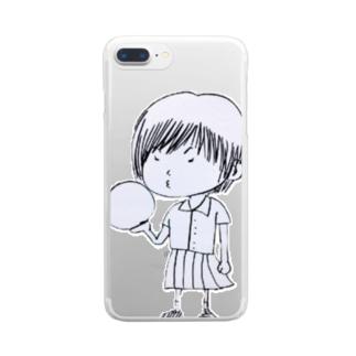 ぼっちチャン Clear smartphone cases