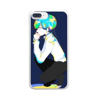 おとこのこ Clear smartphone cases
