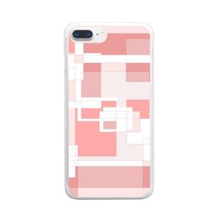 デザインD(Red John) Clear smartphone cases
