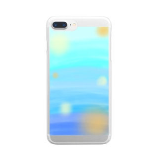 Blue on Clear smartphone cases