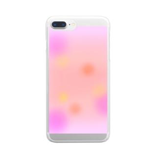 いつか見た夕焼け Clear smartphone cases