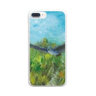 ムラナギ/鳥の日 Clear smartphone cases