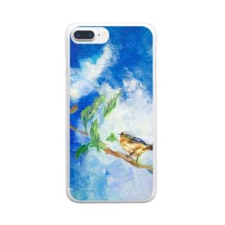 ムラナギ/海を渡る クリアスマートフォンケース