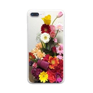 フラワーアレンジメント Clear smartphone cases