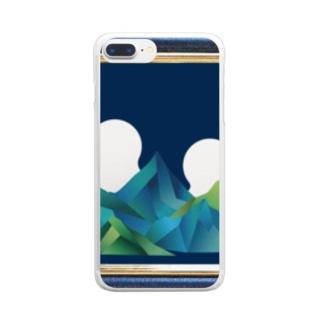 アイランド Clear smartphone cases