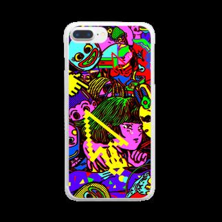 原田ちあきの大人ってつらいねケース Clear smartphone cases