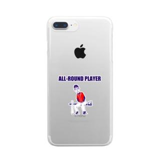 野球デザイン「オールラウンドプレイヤー」 Clear smartphone cases