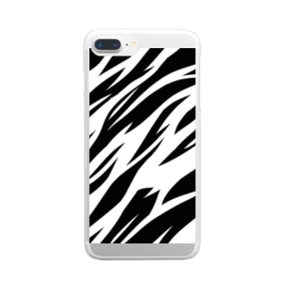 Full Tiger Pattern Clear smartphone cases