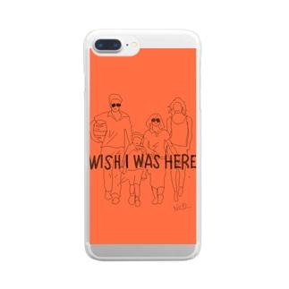映画モチーフ Clear smartphone cases
