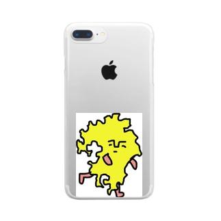 クスオくん(九州男) Clear smartphone cases