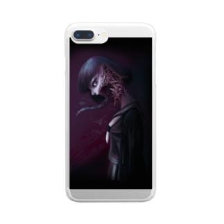 沙華子グッズ2 Clear smartphone cases
