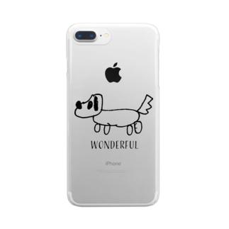 犬ワンダフル クリアスマートフォンケース