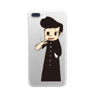 やんちー Clear smartphone cases
