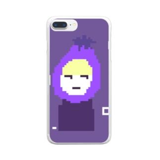 おナスちっちゃめ Clear smartphone cases