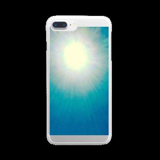 mixethnicjamamaneseのMixEthnicJamanese 太陽 Clear smartphone cases