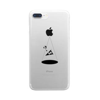 スリ戸惑い中 Clear smartphone cases