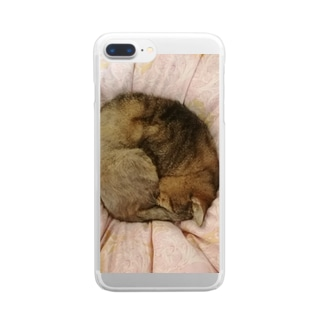 家の猫アンモナイト型 Clear smartphone cases