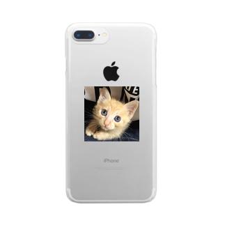 可愛い猫ちゃん💓 Clear smartphone cases