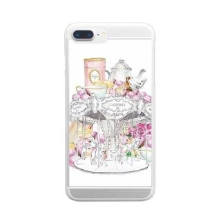 メリーゴーランド Clear smartphone cases