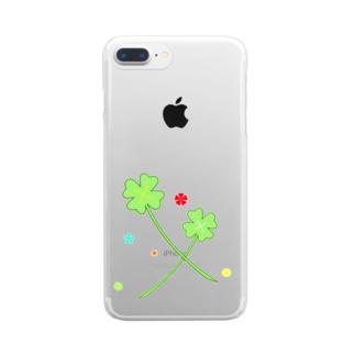よつばとカタバミ Clear smartphone cases