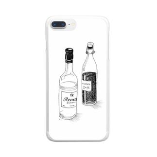 スマホケース「ボトル」 Clear smartphone cases
